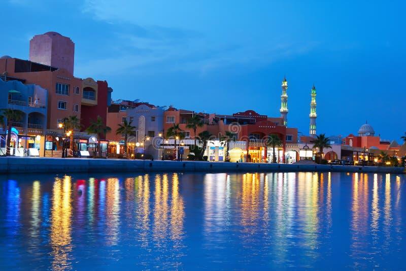 Puerto deportivo de Hurghada foto de archivo