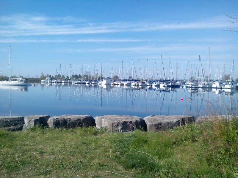 Puerto deportivo de la bahía de Humber fotos de archivo libres de regalías