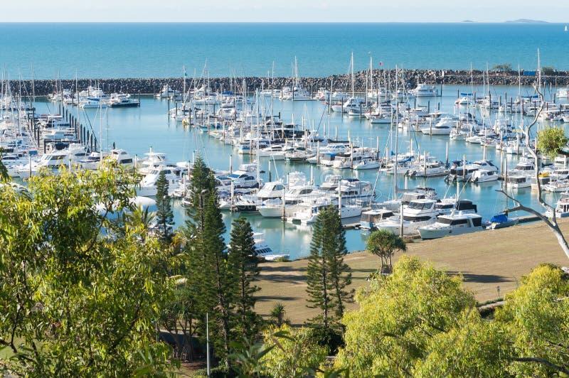 Puerto deportivo de la bahía de Keppel, Queensland, Australia fotos de archivo