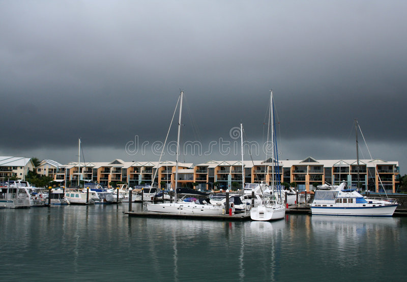 Puerto deportivo de la bahía de Raby foto de archivo libre de regalías