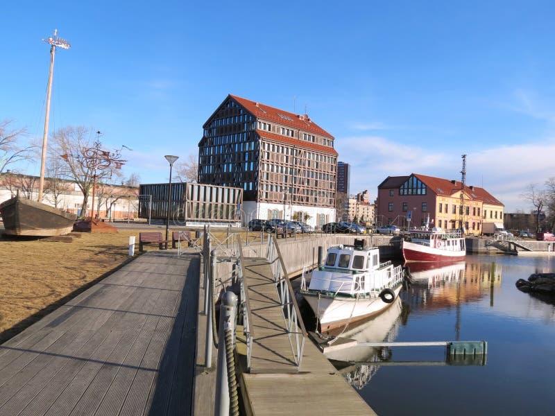Puerto deportivo de la ciudad de Klaipeda fotos de archivo libres de regalías