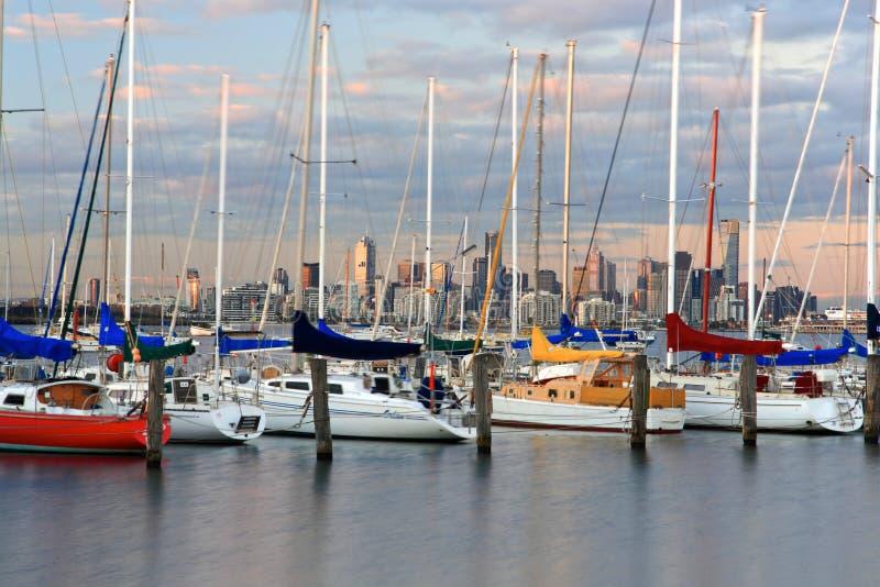Puerto deportivo de la ciudad de Williams, Melbourne imágenes de archivo libres de regalías