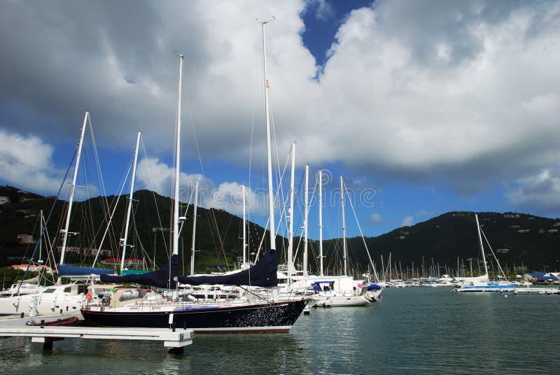 Puerto deportivo de la isla de Tortola imágenes de archivo libres de regalías