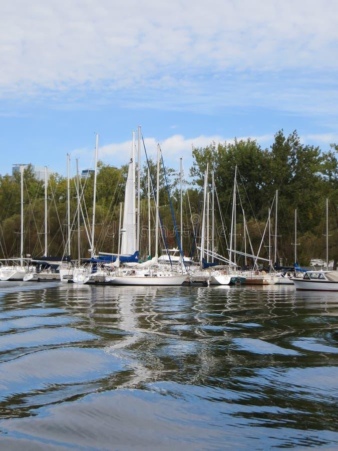 Puerto deportivo de la isla de Toronto fotos de archivo libres de regalías