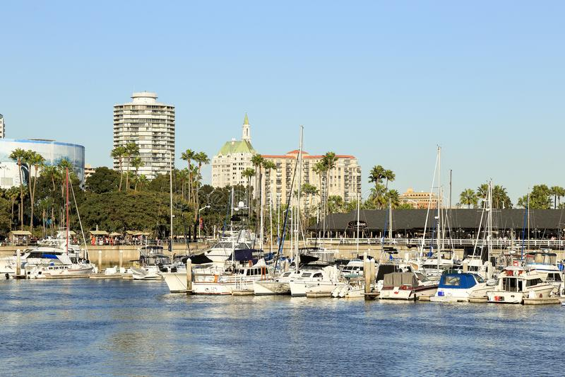 Puerto deportivo de Long Beach imagenes de archivo