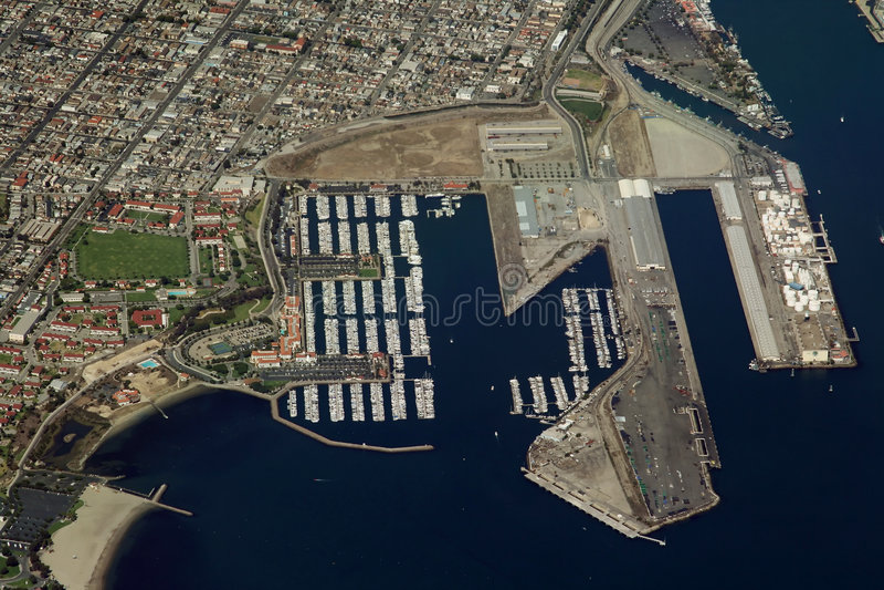 Puerto deportivo de Long Beach foto de archivo libre de regalías