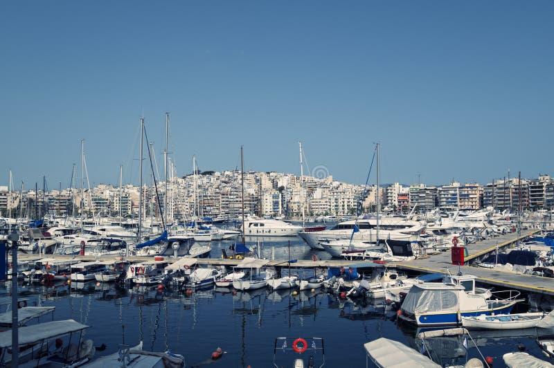 Puerto deportivo de Pireo, Atenas imagen de archivo libre de regalías