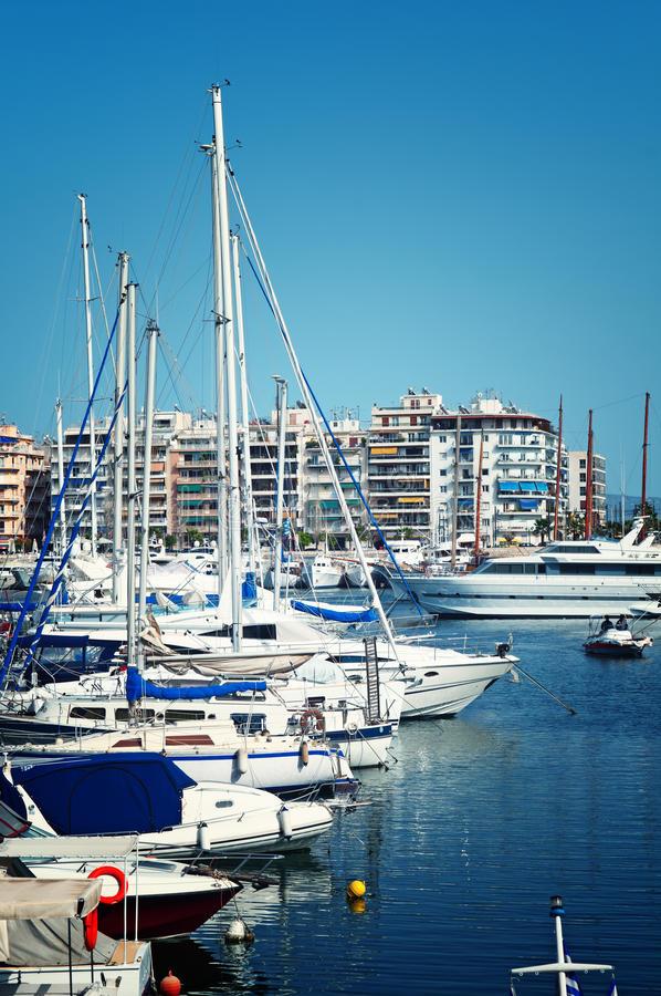 Puerto deportivo de Pireo, Atenas imagenes de archivo