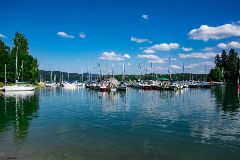 Puerto deportivo de Polanczyk fotos de archivo libres de regalías