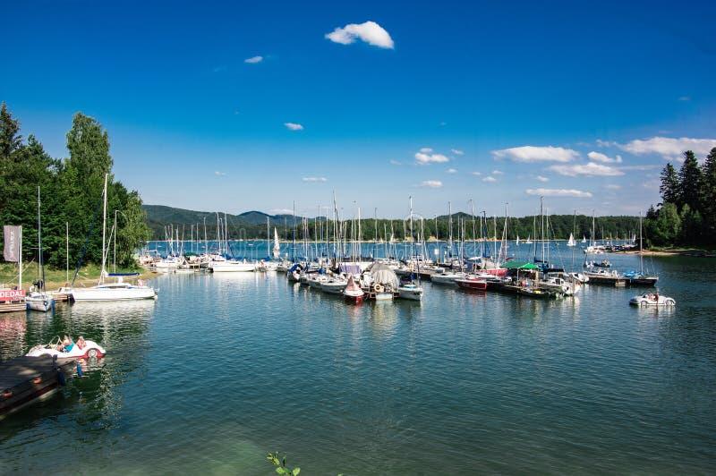 Puerto deportivo de Polanczyk fotografía de archivo libre de regalías