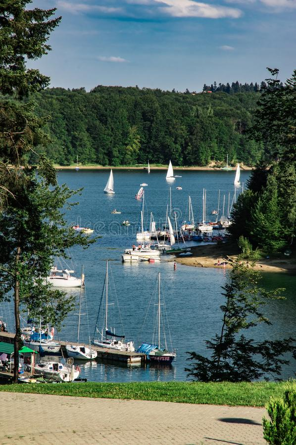 Puerto deportivo de Polanczyk foto de archivo libre de regalías