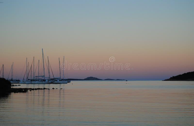 Puerto deportivo de Portisco fotografía de archivo