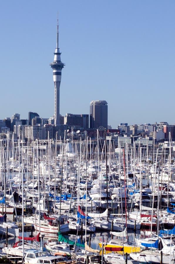 Puerto deportivo de Westhaven - Auckland imagen de archivo
