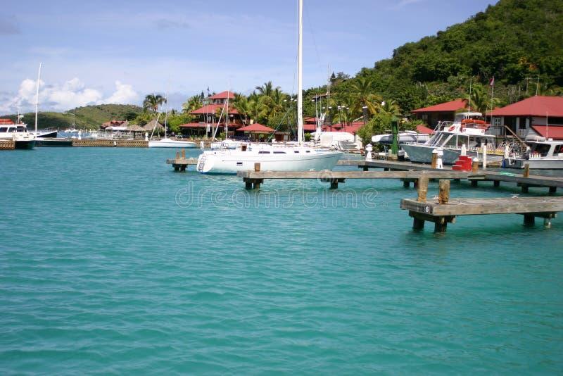 Puerto deportivo del centro turístico del final amargo fotos de archivo libres de regalías