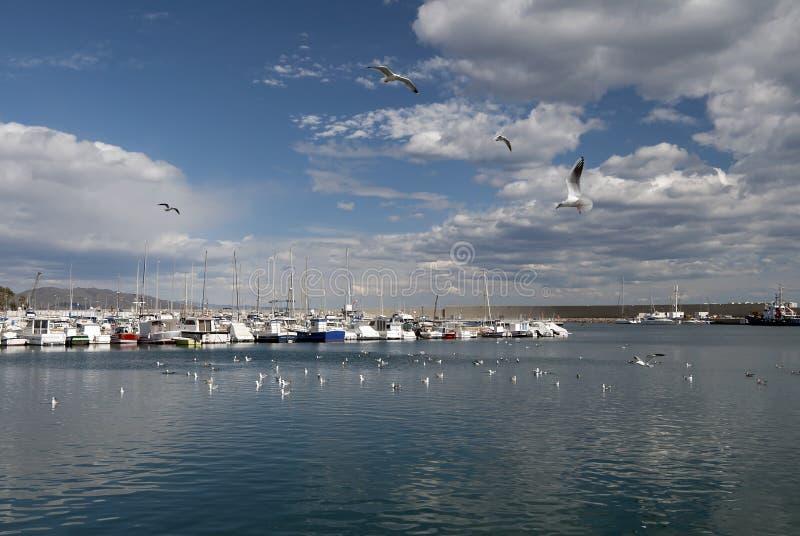 Puerto deportivo del puerto de Garrucha foto de archivo