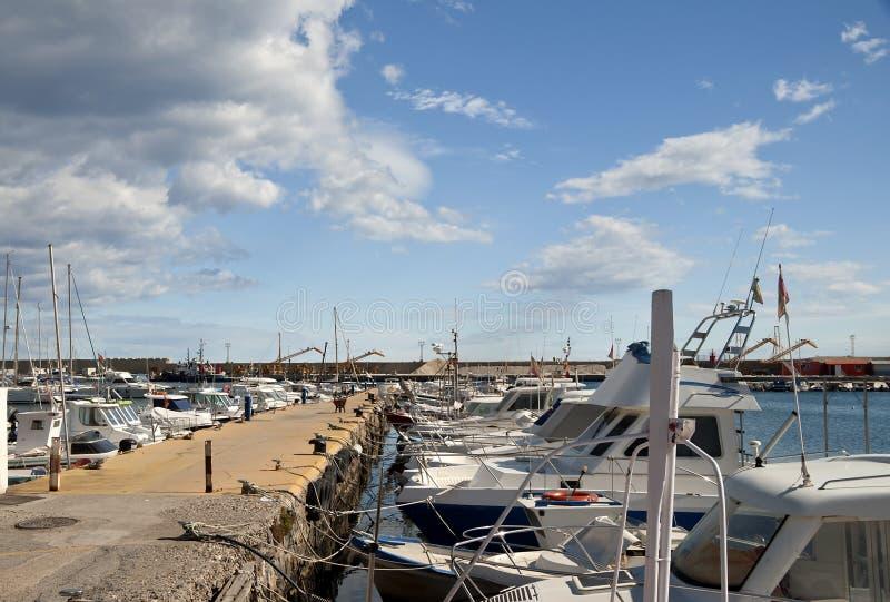 Puerto deportivo del puerto de Garrucha fotografía de archivo libre de regalías