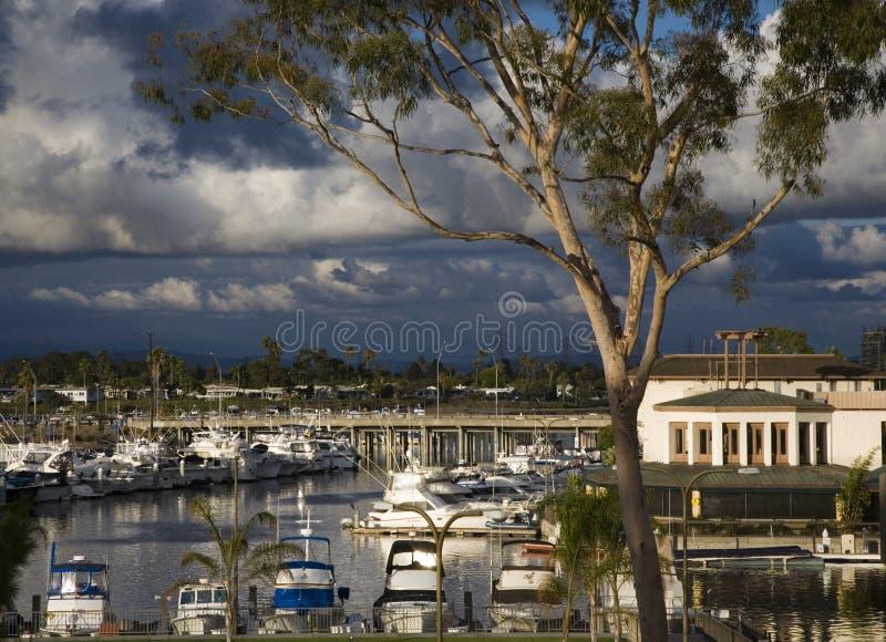 Puerto deportivo en California meridional. fotos de archivo libres de regalías