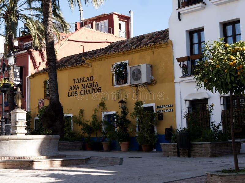 Puerto deportivo en Marbella en Costa Del Sol Andalucia, España foto de archivo