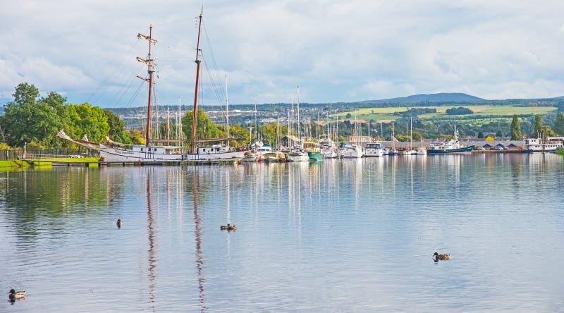 Puerto deportivo en Muirtown fotografía de archivo