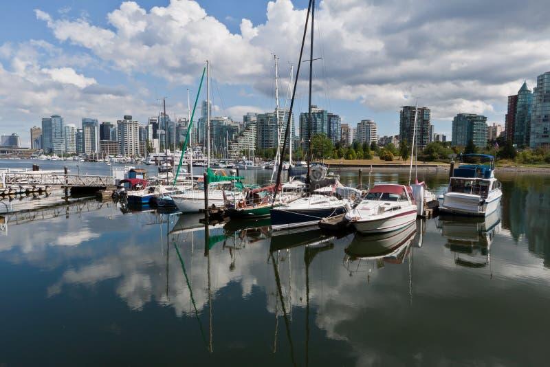 Puerto deportivo en Vancouver foto de archivo