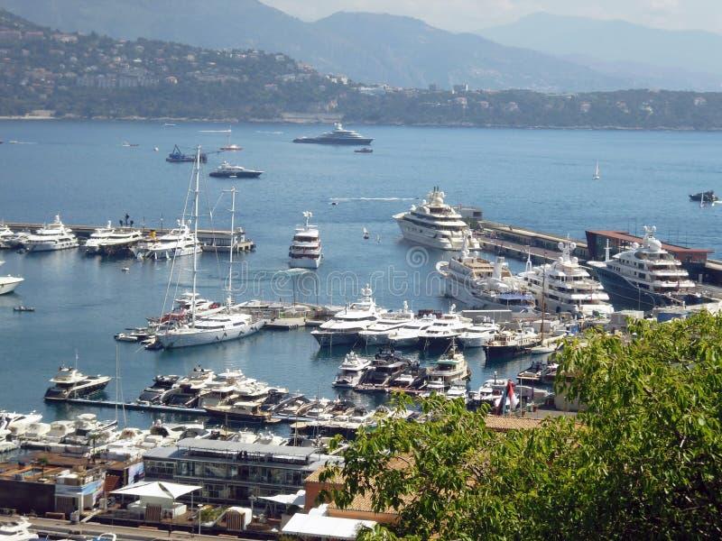 Puerto deportivo, Mónaco imagenes de archivo