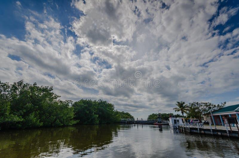 Puerto deportivo - parque nacional de Biscayne - la Florida foto de archivo libre de regalías