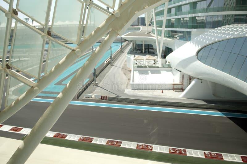Puerto deportivo Prix magnífico de ABU DHABI, UAE Yas imágenes de archivo libres de regalías