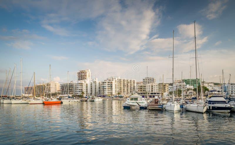 Puerto deportivo San Antonio del yate foto de archivo libre de regalías