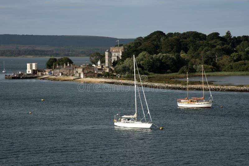 Puerto Dorset Inglaterra de Poole de la isla de Brownsea fotografía de archivo libre de regalías