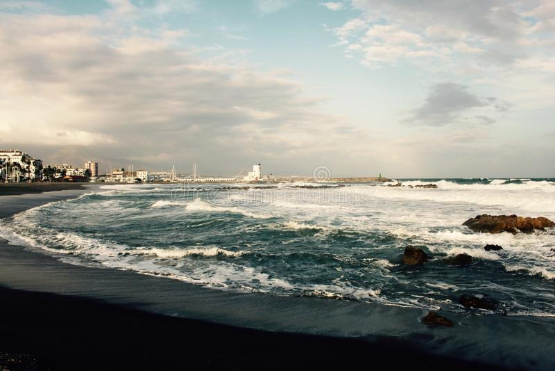Puerto Duquesa看法  免版税库存照片