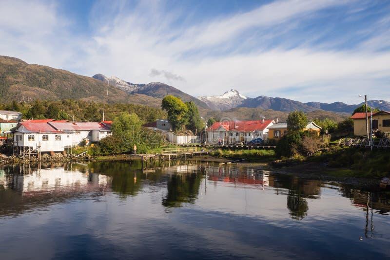 Puerto Eden w Chilijskich fiordach, Patagonia fotografia royalty free