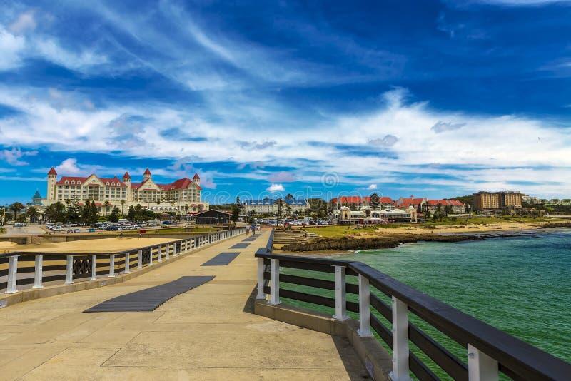 Puerto Elizabeth Beachfront, Suráfrica foto de archivo libre de regalías
