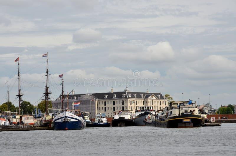 Puerto en Amsterdam fotografía de archivo libre de regalías