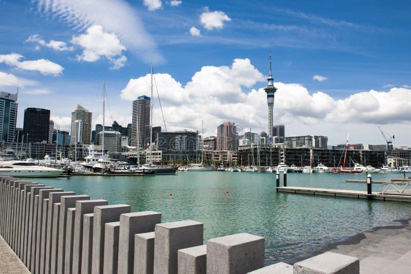 Puerto en Auckland, NZ foto de archivo