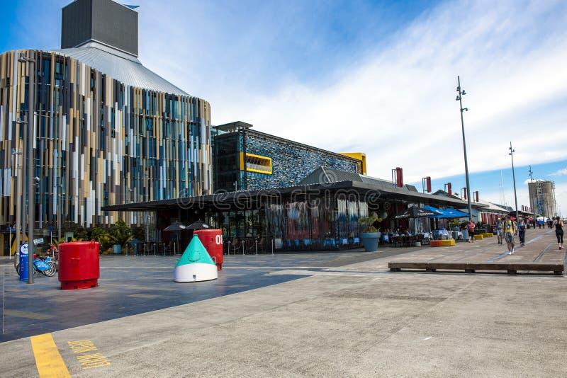 Puerto en Auckland, NZ fotografía de archivo