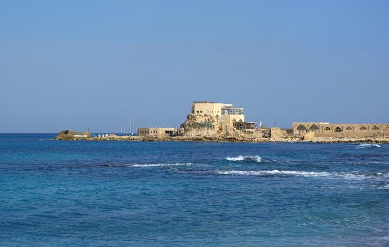 Puerto en Caesarea imagen de archivo
