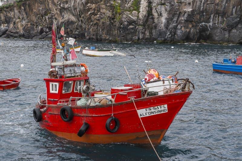 Puerto en Camara de Lobos foto de archivo libre de regalías