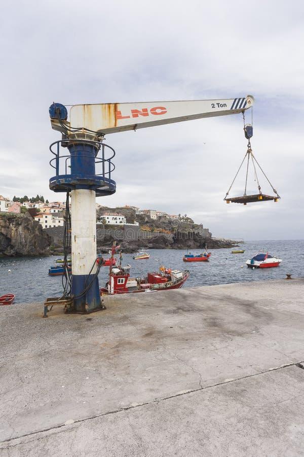 Puerto en Camara de Lobos imágenes de archivo libres de regalías