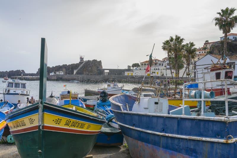 Puerto en Camara de Lobos foto de archivo