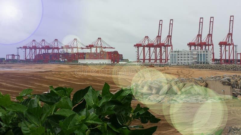 Puerto en Colombo, Sri Lanka foto de archivo