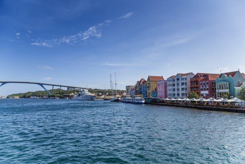 Puerto en Curaçao fotografía de archivo libre de regalías