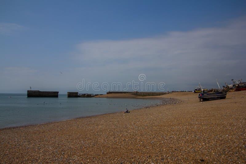 Puerto en Hastings, Reino Unido foto de archivo libre de regalías