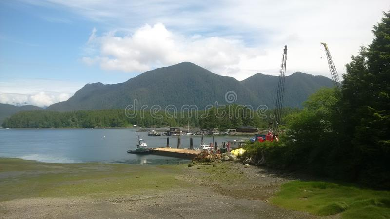 Puerto en la isla de la fresa fotos de archivo