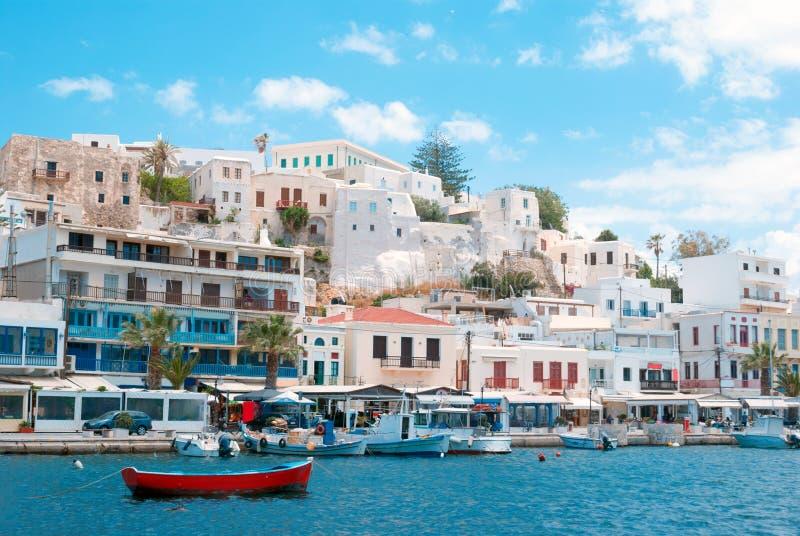 Puerto en la isla de Naxos imagen de archivo libre de regalías