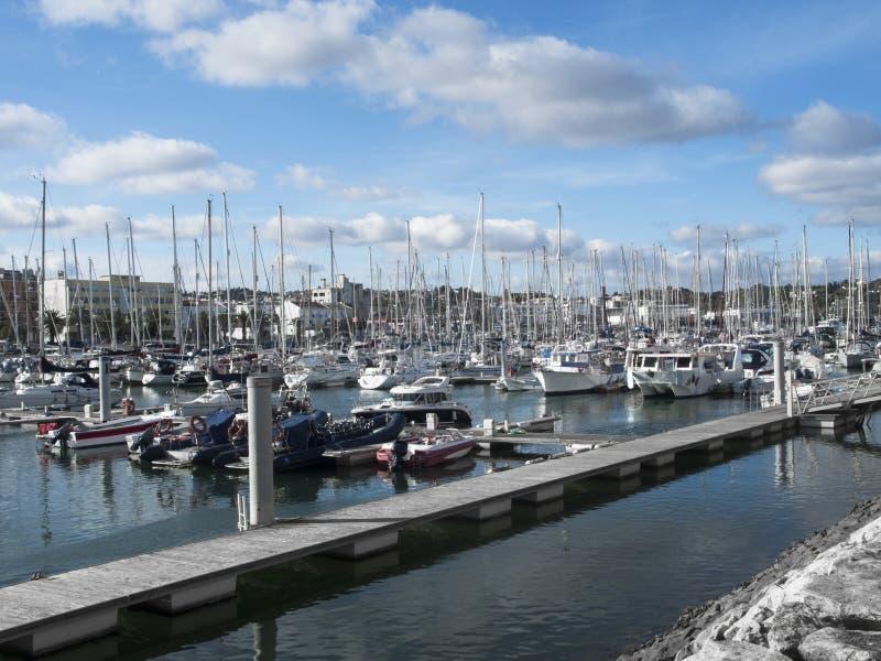 Puerto en Lagos Portugal fotos de archivo libres de regalías