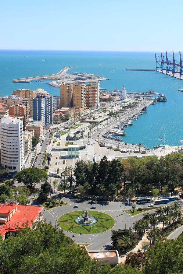 Download Puerto en Málaga, España foto de archivo. Imagen de azul - 41910304