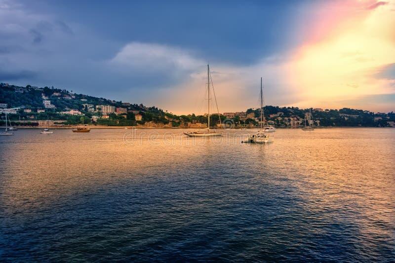 Puerto en Niza, Francia imagen de archivo libre de regalías