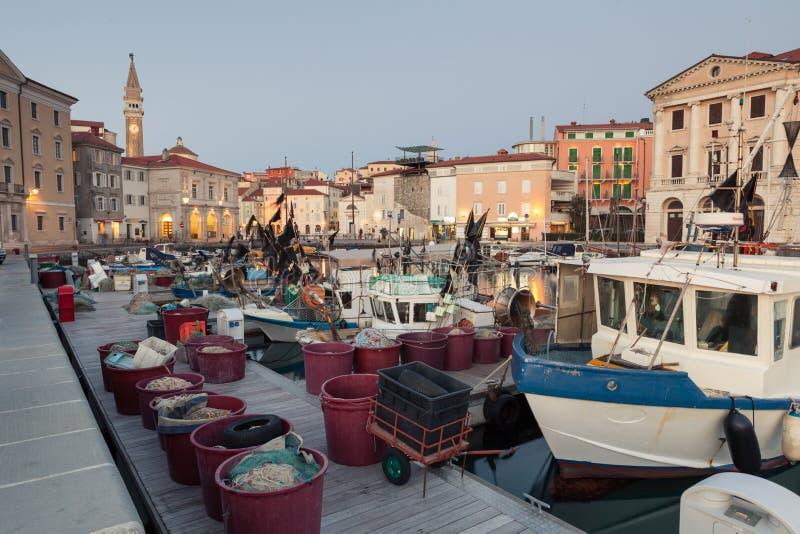 Puerto en Piran, Eslovenia, Europa fotografía de archivo libre de regalías