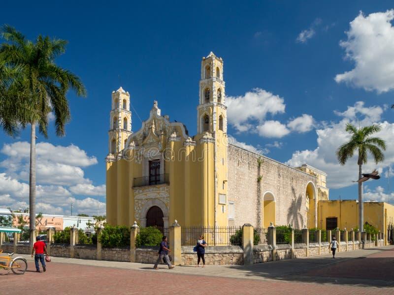 Puerto Escondido, Oaxaca, Mexico, Amerika [Heilige John Baptist, de kerk van San Juan Bautista, historisch centrum van Merida, to stock afbeeldingen