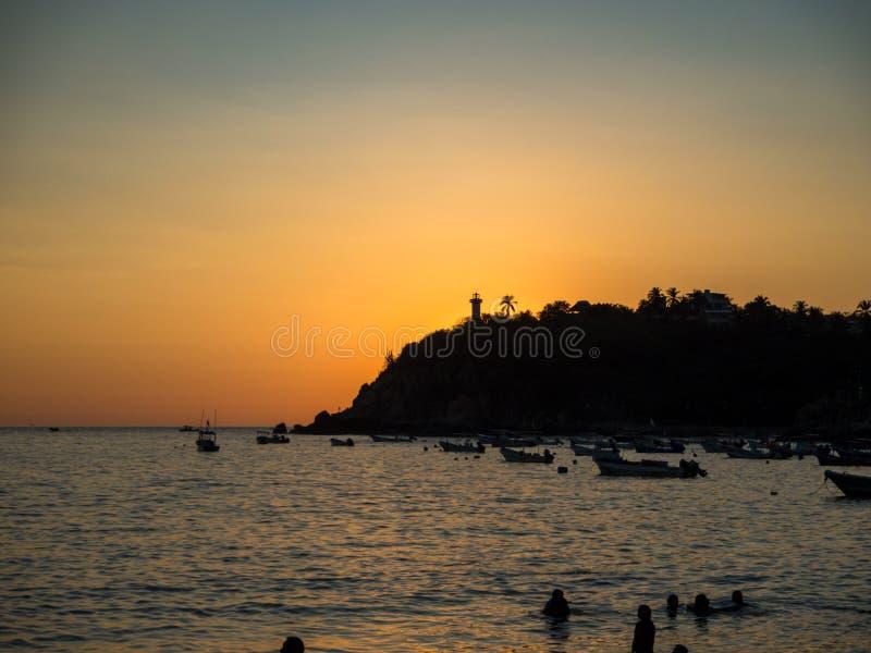 Puerto Escondido, Oaxaca, Mexico, Zuid-Amerika: royalty-vrije stock afbeelding
